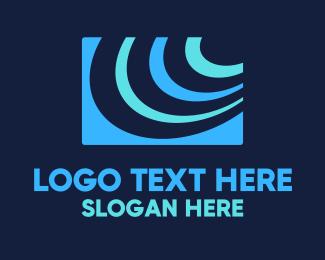 Provider - Abstract Tech Signal logo design