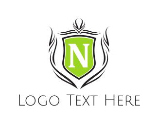Traditional - Shield Letter N logo design