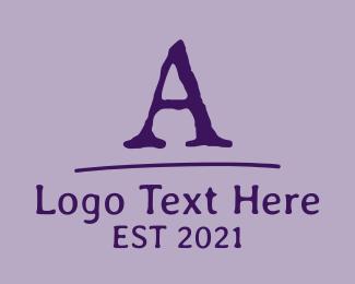 Antique - Old School Font Letter logo design