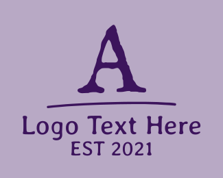 Font - Old School Font Letter logo design