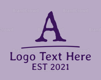 English - Old School Font Letter logo design