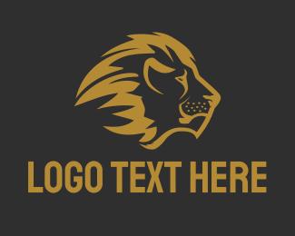 Lion - Bronze Lion logo design