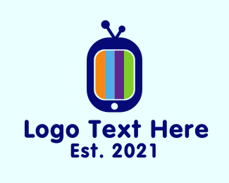 Tv Channel - Colorful  Tv Screen logo design