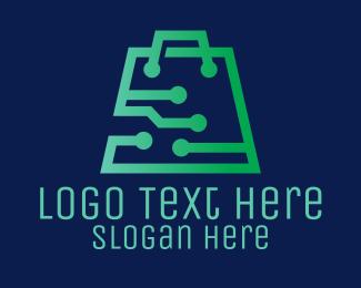 Electronic - Green Electronics Store logo design
