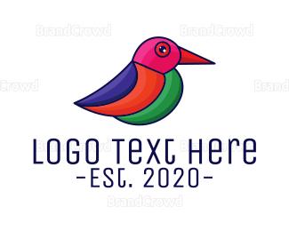 Small - Artistic Small Bird logo design