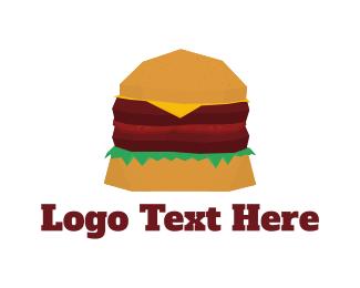 Cheeseburger - Double Burger logo design
