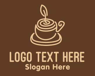 Robusta - Coffee Candle Cup logo design