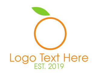 Minimalist Orange Logo