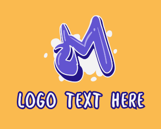 Lively - Blockbuster Graffiti Letter M logo design