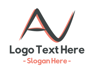 Audio - Audio Visual AV logo design
