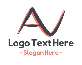 Showroom - Audio Visual AV logo design