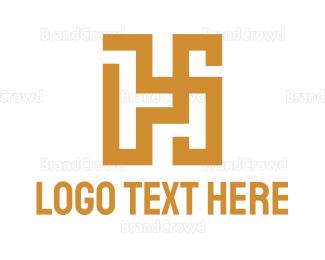 Resort - Geometric Luxury H logo design