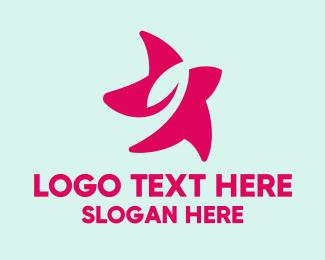 Lotion - Pink Leaf Star Beauty logo design