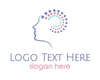 Therapist - Brain Wellness logo design