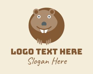 Animal - Happy Beaver  logo design