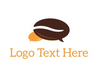 Bean - Coffee Bean Chat logo design
