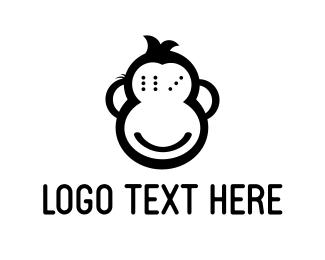Chimpanzee - Monkey Game logo design
