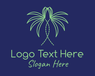 Home Styling - Indoor Palm Plant  logo design