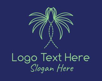 Palm - Indoor Palm Plant logo design
