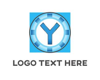 Cogwheel - Industrial Letter Y logo design