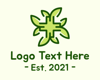 Medical Drug - Herbal Medical Cross logo design