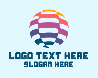 Amusement - Colorful Global Company logo design