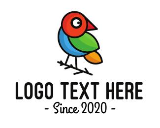 Rainforest - Colorful Pygmy Outline logo design