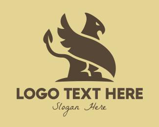 Legendary - Brown Egyptian Griffin logo design