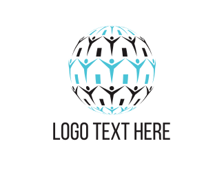 Wild Animal - Human Globe logo design
