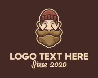 Dude - Hipster Old Man logo design