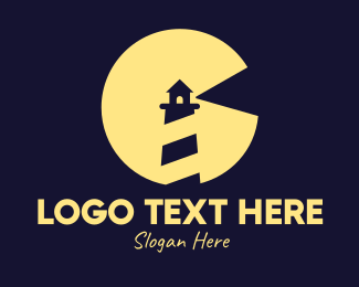 Searchlight - Night Lighthouse logo design