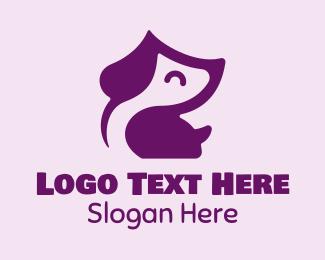 Puppy - Cute Happy Puppy logo design