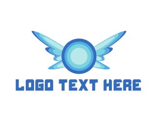 Speaker - Fly Music logo design