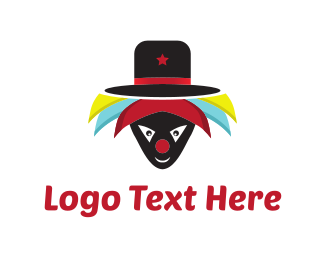 Happiness - Hat Clown  logo design