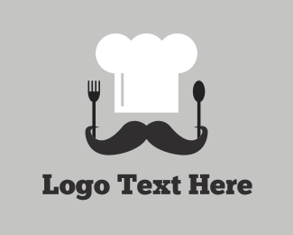 Cook - Chef & Cutlery logo design