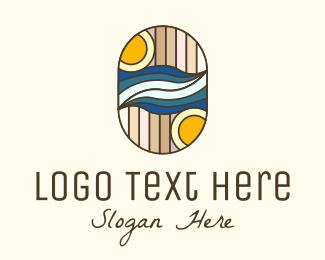 Vacation - Summer Vacation Mosaic logo design