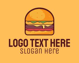Burger - Cheeseburger Burger logo design