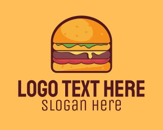 Cheese - Cheeseburger Burger logo design