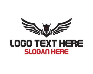 Hell - Flying Monster logo design