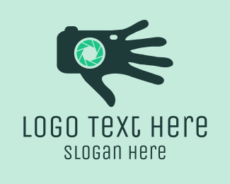 Snap - Camera Hand logo design