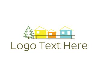 Cabin - Colorful Cabins logo design