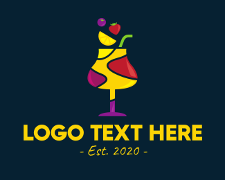 Colored - Fresh Fruit Sangria logo design