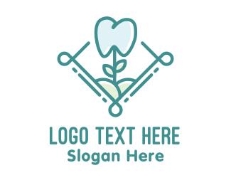 Orthodontics - Dental Tooth Flower logo design