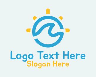 Summer Vacation - Ocean Sun Holiday logo design