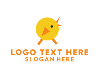Yellow Duck - Yellow Chicken logo design