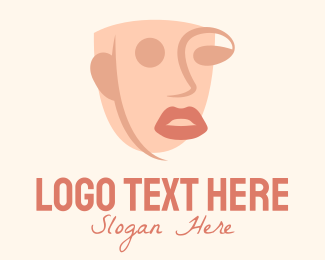 Facelift - Deconstructed Face Art logo design