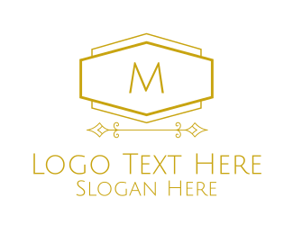 """Golden Luxurious Lettermark"" by BrandCrowd"