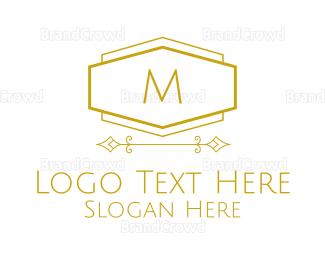 Condominium - Golden Luxurious Lettermark logo design