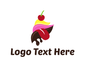 Tongue - Ice Cream Tongue logo design