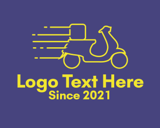 Motorist - Yellow Delivery Motorbike logo design